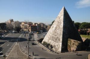 Roma Ostiense Mura Aureliane Piramide dal Museo di Porta san Paolo DSC_3342