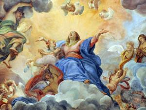 01 Roma Restauro S.M. Miracoli 002 Assunzione della Vergine, Giuseppe Chiari