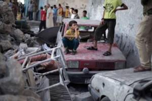 02 OlO Medio Oriente conflitto israelo-palestinese Razzi sulla Pace Caritas LapresseFo_42624726
