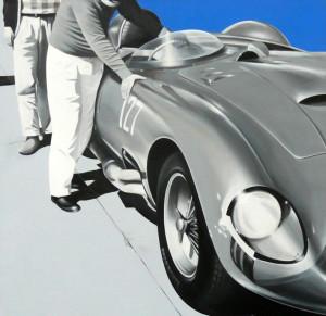 FERMO IMMAGINE A di Maurizio Morandi Santa Barbara,1959- 2008,acrilico su tela,120x125