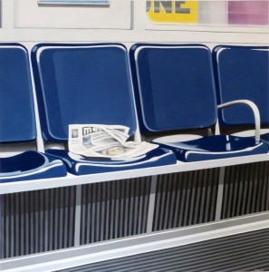 FERMO IMMAGINE A di Maurizio Morandi Subway, 2014, 100x100 acrilico su tela web